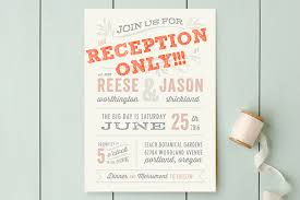 wedding reception invitation wording after ceremony wedding invitation wording reception only ceremony