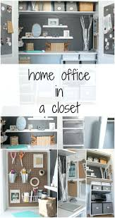 office design home office in a closet from the crazy craft lady
