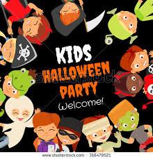 funny halloween party design concept happy stock vector 316479521