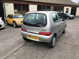 fiat seicento 1 1 active sport 3dr manual for sale in burnley
