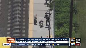 bwi to dc service resumes after package investigation at bwi amtrak station