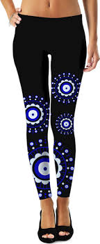 eye pattern tights eye leggings