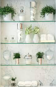 Glass Shelves Bathroom 212 Best Small Bathroom Images On Pinterest Door Storage Home