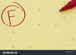 lined writing paper with picture space yellow lined paper grade f red stock photo 141798160 shutterstock yellow lined paper with the grade f in red circled and a marker getting a