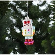 handpainted christmas robot christmas tree ornament u2013 little