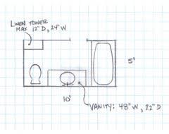 Small Bathroom Floor Plans 5 X 8 Need Help With 5 U0027 X 10 U0027 Bathroom Makeover Bathroom Designs 10 X 9