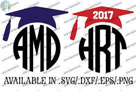 monogram graduation cap 2017 graduation monogram cap svg dxf eps cut files by afw