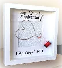 wedding anniversary plaques buy 2nd wedding anniversary personalised frame cotton by