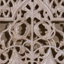foliate marble jali panel hand carved marble panel by art of old