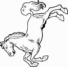imprime le dessin à colorier de cheval