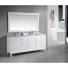 design element london 78 inch double sink white vanity with white