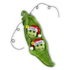 personalized christmas ornament two peas in a pod ornament