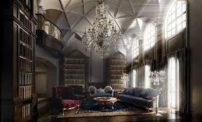 Large Bookshelves by Hall Room With Large Bookshelves 3d Cgtrader