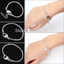 sterling silver snake chain bracelet images 2018 wholesale women tassel slave anklet chunky summer multilayer jpg