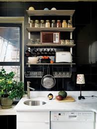Modern Small Kitchen Design by Entertaining Small Kitchens Ideas In Modern Living Space Black
