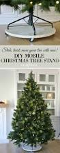diy mobile christmas tree stand christmas tree holidays and