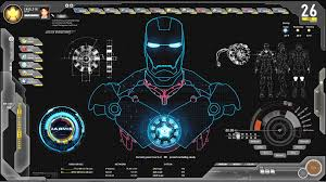 futuristic avengers jarvis shield theme and skin for rainmeter