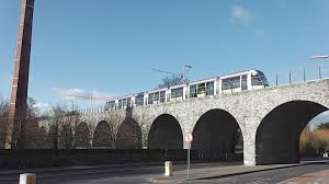 luas trams crossing the milltown viaduct dublin youtube