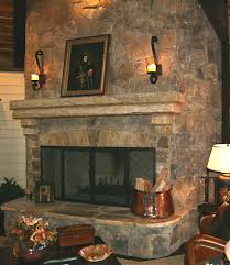 decorating fireplace mantels and hearths raised large stone angled