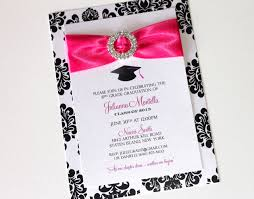 8th grade graduation invitations embellished paperie glam graduation invitations black and