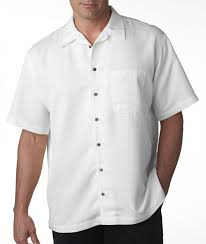 ultraclub men u0027s short sleeve cabana breeze camp shirt solid button