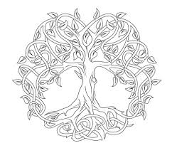 celtic tree of coloring page free printable coloring pages