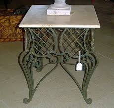 wrought iron tables for sale additional september sales items marble top egyptian wrought iron table