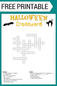 halloween crossword puzzle free printable