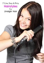 easy hairstyles for straight hair how to do best images about
