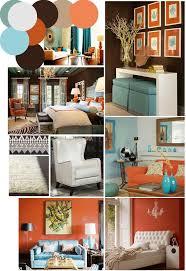 Burnt Orange And Teal Decorating Dzqxhcom - Orange interior design ideas