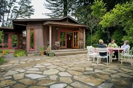 Loose Gravel Patio Loose Gravel Exterior Rustic With Solid Slab Doors Byrneseyeview Com