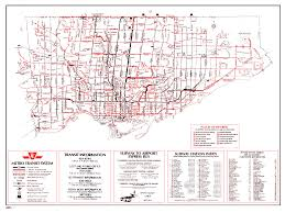 Map Toronto Canada by Ttc System Maps Transit Toronto Content