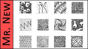 easy zentangle doodles how to make12 extra patterns step by