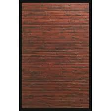brown and tan area rug anji mountain cobblestone mahogany brown with black border 4 ft x
