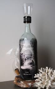 family sand ceremony bottle with your photos hand painted wine