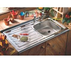 Lay Sit On Kitchen Sinks Roll Front  X Mm Double Tap Hole - Sit on kitchen sink