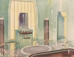 art deco interior design bathrooms