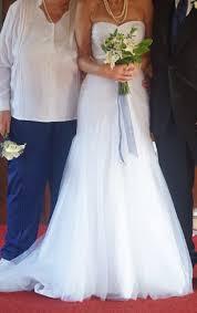 wedding dress david bridal david s bridal strapless ruched mermaid tulle wedding dress david