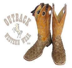 s boots amazon boulet s brown pirarucu arapaima amazon big bass fish boots