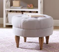 Ottoman For Baby Room Tufted Ottoman Pottery Barn