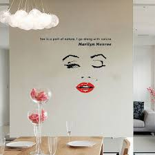 chambre marilyn diy marilyn citation moon wall sticker salon vinyle
