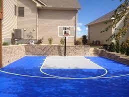 large patio turned basketball court basketball system photo album