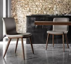 annie leather dining chair by calligaris