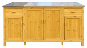 leisure season buffet server with cooler compartment