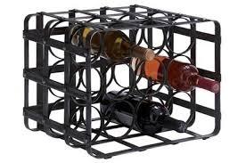 metal wine rack living spaces