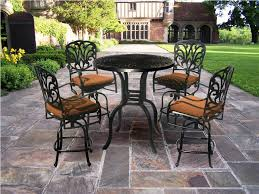 Outdoor Bar Patio Furniture Furniture Uncategorized Outdoor Bar Height Bistro Set With Black