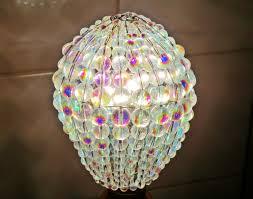 Beaded Pendant Light Shade Crystal Chandelier Inspired Aurora Borealis Ab Glass Lightbulb Gls