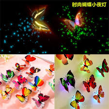 led butterfly dragonfly wall decros hangings 3d wall sticker