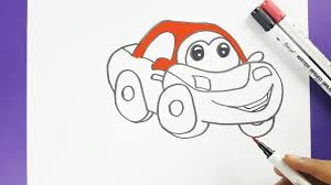 cartoon car drawing how to draw a cartoon car easily step by step for kids cartoon