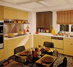 Retro Style Kitchen Cabinets 1970s Kitchen Design One Harvest Gold Kitchen Decorated In 6